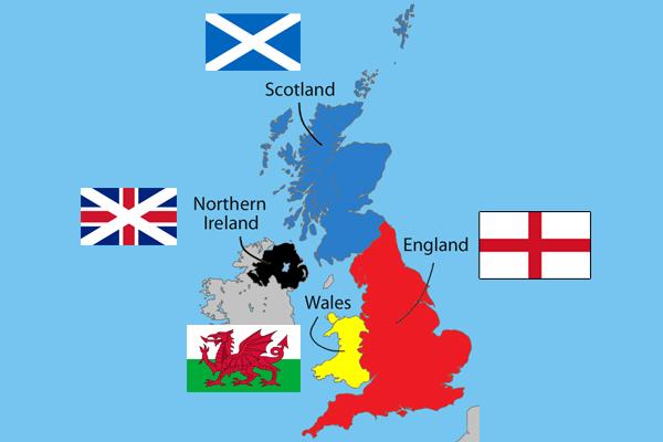 イギリスの地図