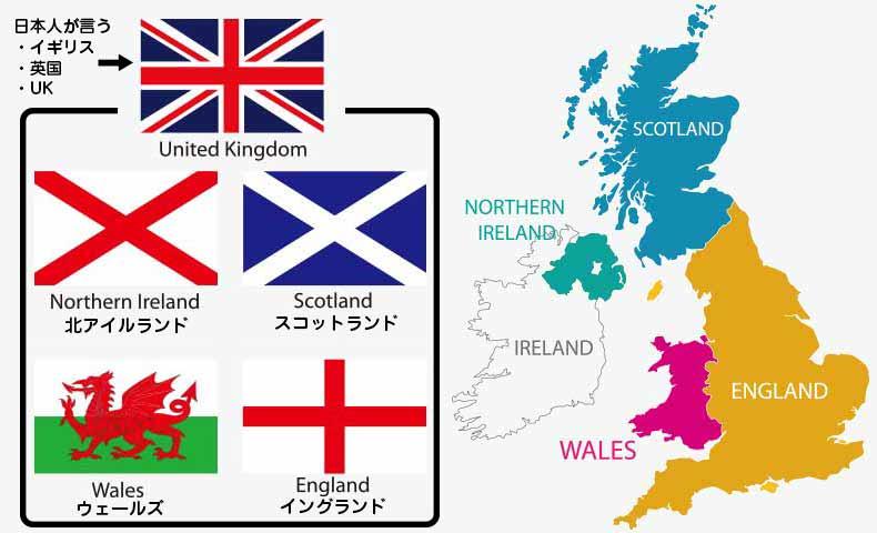 イギリス / イングランド / UK / ブリティッシュの違い | ネイティブと ...