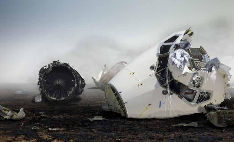 飛行機の墜落