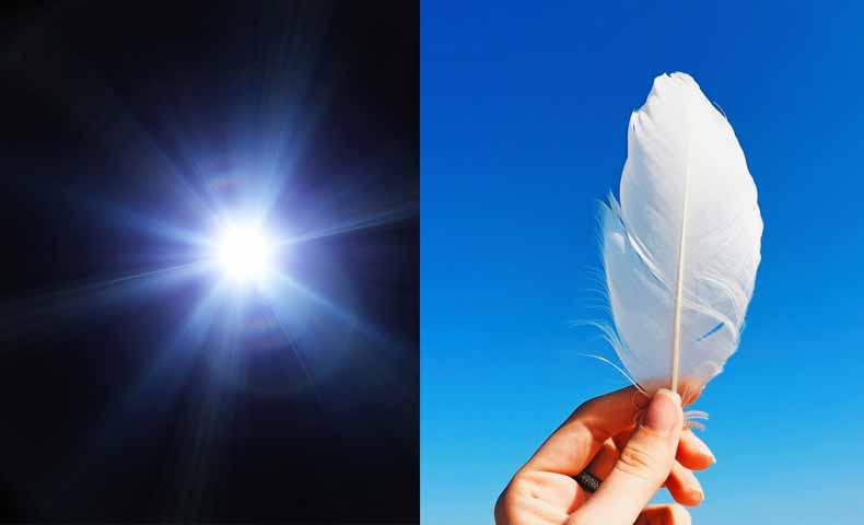 「光・明かり」と「軽い」の違い