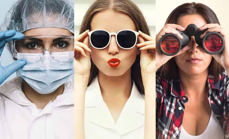 メガネの類似品(goggles, sunglasses, binoculars)