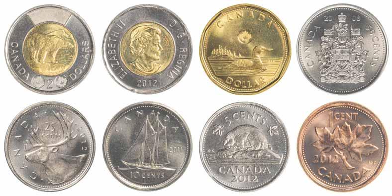 カナダの硬貨