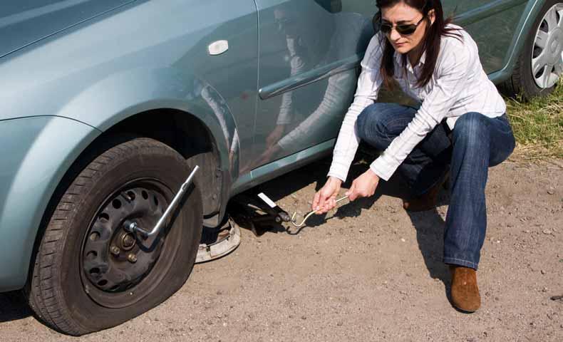 flat tire(パンク)