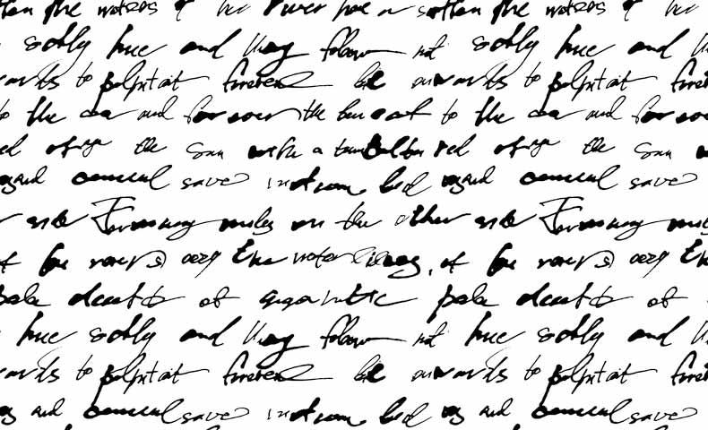 筆記体のサンプル2