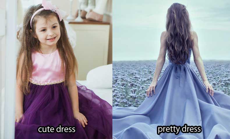 prettyとcuteの比較