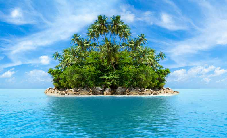 deserted island / desert islandの意味