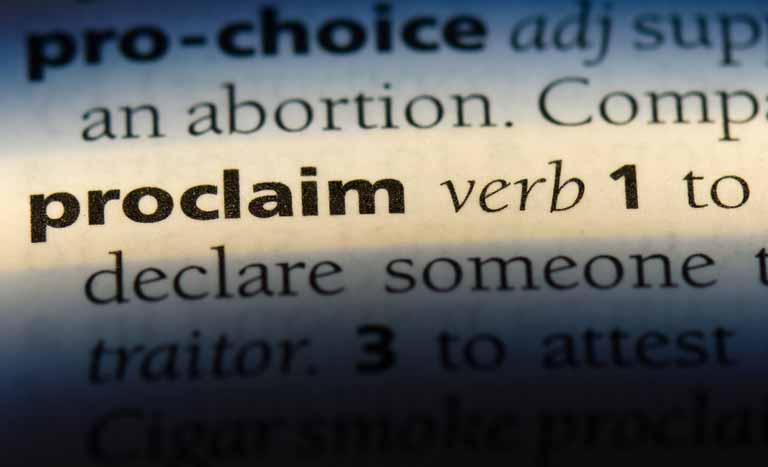proclaimの意味と使い方