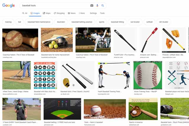 「baseball tools」