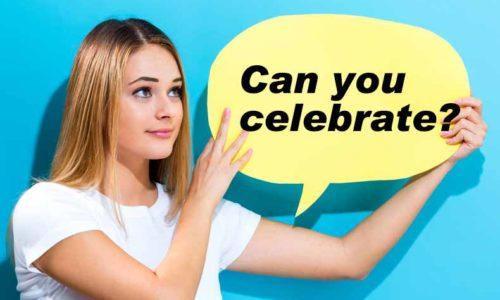「CAN YOU CELEBRATE?」の英語の問題点を考える