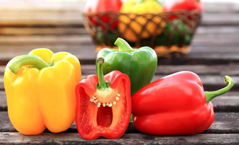 ピーマンとパプリカは英語では「bell pepper」