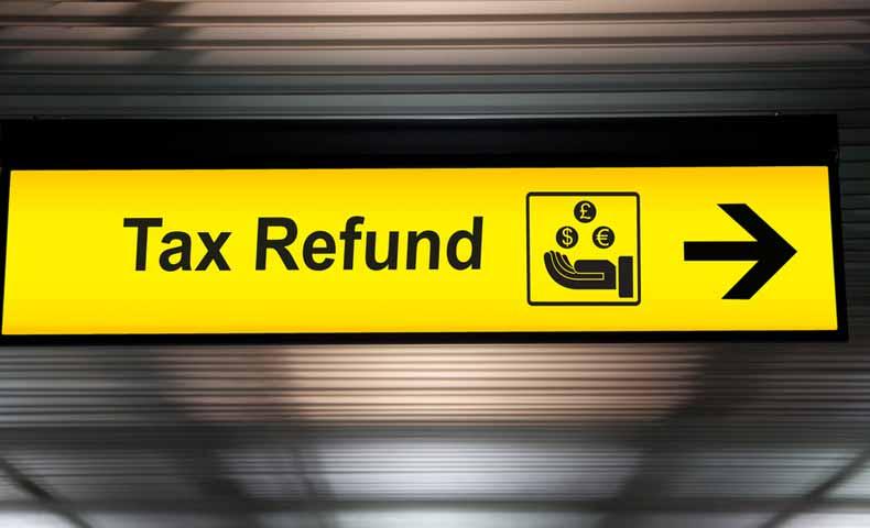 tax refund(税金の払い戻し)