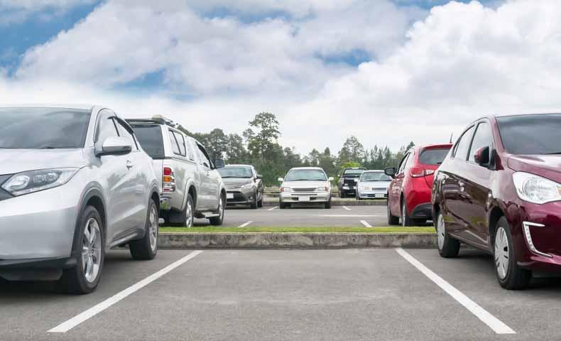 駐車するスペース