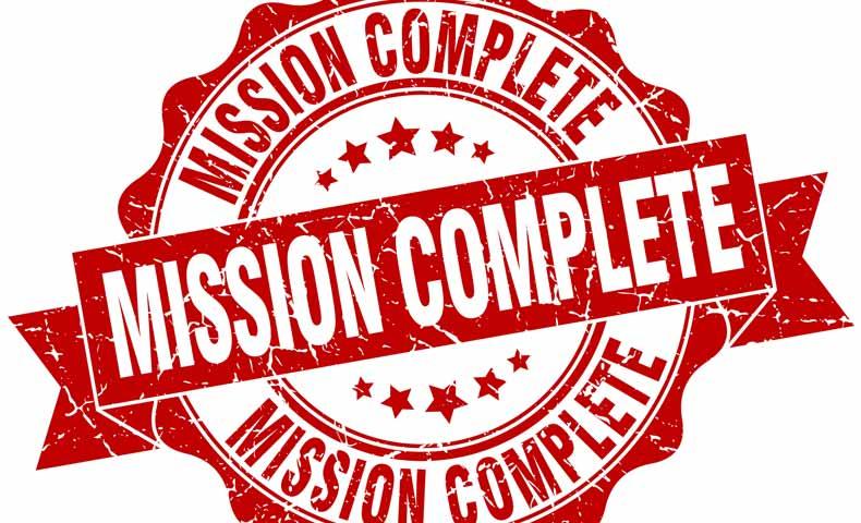 mission complete(ミッションコンプリート)の意味
